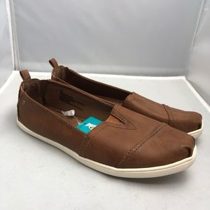Mad Love Brown Cognac Slip On 9 Shoes Loafers Flat